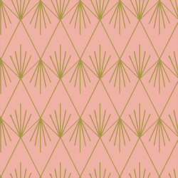 Trellis in Peony and Gold