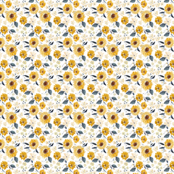 Tiny Sunflower Girl in Cream