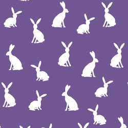 Cottontail Silhouette in Ultra Violet