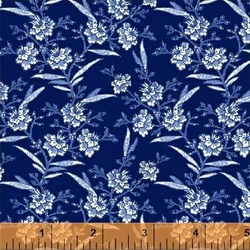 Floral Sprigs in Navy