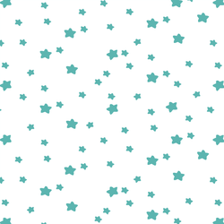 Star Light in Seafoam on White