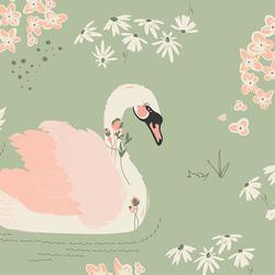 Dabbling Swan in Sage