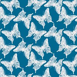 Butterflies in Jay Blue