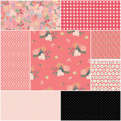 Flower Market Fat Quarter Bundle in Hibiscus