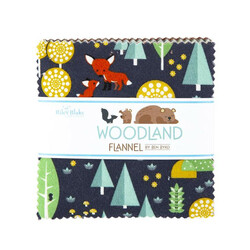 """Woodland Flannel 5"""" Square Pack"""