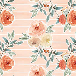 Ardent Floral Stripe in Barely Blush Wash