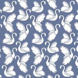 Swan Silhouette in Azurite