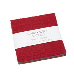 Warp and Weft Wools Charm Pack in Bright Colors