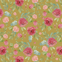 Wild Roses in Gold