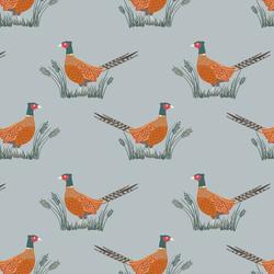 Pheasants in Grey