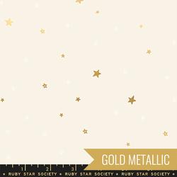 Tiny Stars in Cream Soda Metallic