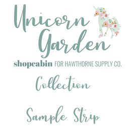 Unicorn Garden Sample Strip