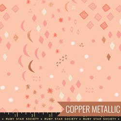 Moonrise in Metallic Peach Blossom