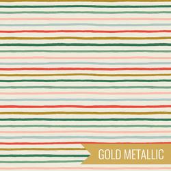 Festive Stripe in Multi Metallic