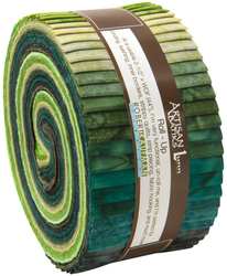 Artisan Batiks Roll Up in Prisma Dyes, Rainforest Colorstory