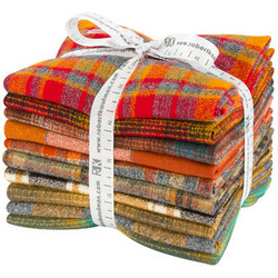 Mammoth Flannel Fat Quarter Bundle in Yellow