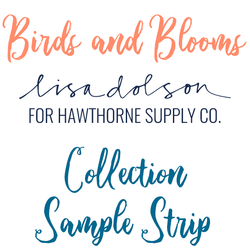 Birds and Blooms Sample Strip