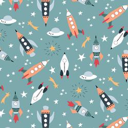 Rockets in Aurora Teal