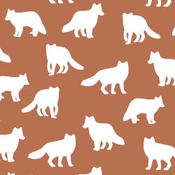 Fox Silhouette in Terracotta