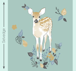 Fawn Quilt Panel in Aspen