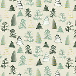 Pine Trees in Cream