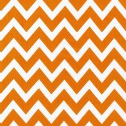Large Zig Zag Stripe in Tangerine