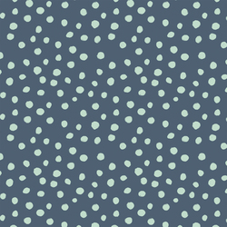 Small Modern Polka Dot in Pacific Blue