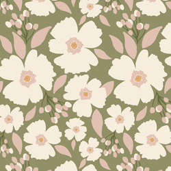 Easter Blossoms in Sage Green