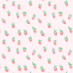 Strawberries on Top in Light Pink