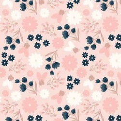 Floral in Pink Metallic