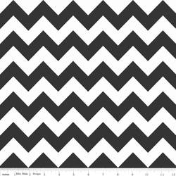 Medium Chevron in Black