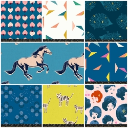 Darlings Fat Quarter Bundle in Blue