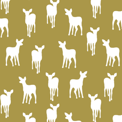 Fawn Silhouette in Gold