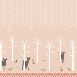 Fawn Forest Border in Shell