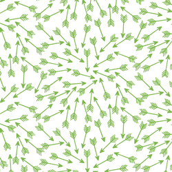 Arrows in Greenery on White