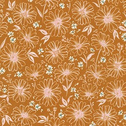 Daisy Sketch in Copper