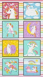 Rainbow Unicorn Panel in Rainbow