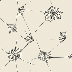 Large Spiderwebs in Charcoal on Bone