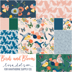 Birds and Blooms Fat Quarter Bundle