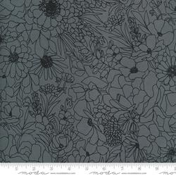 Modern Florals in Graphite