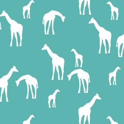 Giraffe Silhouette in Seafoam