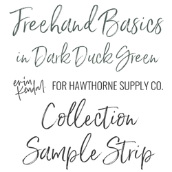 Freehand Basics Sample Strip in Dark Duck Green