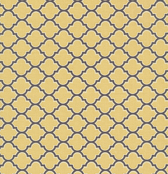 Lodge Lattice in Vintage Yellow