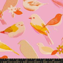 Mixed Birds in Peony