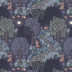 Bluebell Wood in Dark Blue