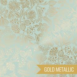 Moxie Floral in Mint Metallic