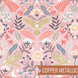 Enchanted Owl in Pink Metallic