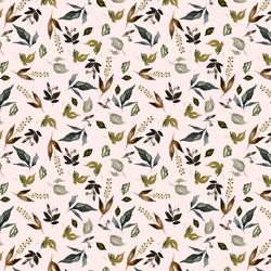 Little Woodland Foliage in Soft Blush