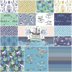 Mariner Fat Quarter Bundle in Briney Seas