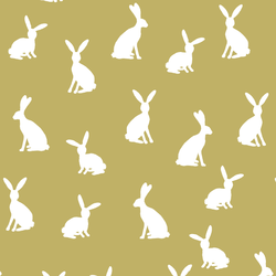Cottontail Silhouette in Brass